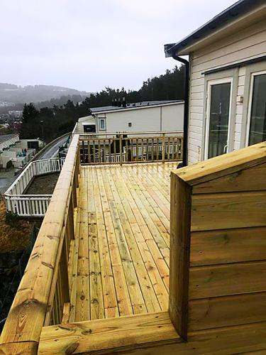 Nybygget terrasse